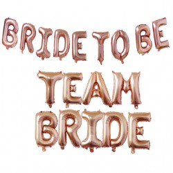 Grote rose gouden letter ballon decoratie set Bride to Be of Team Bride