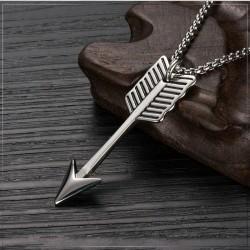 Stainless steel Arrow heren ketting