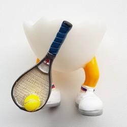 Grappig eierkopje Tennis