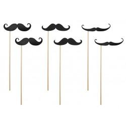 Pak met zes foto props Moustache