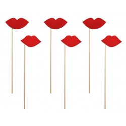 Pak met zes foto props red Lips