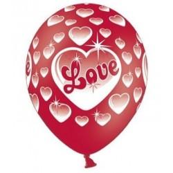 Ballonnen Love rood met wit