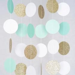 Confetti slinger mint wit goud glitter