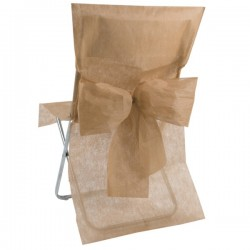Trendy stoelhoes met strik aan de achterzijde taupe