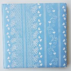 Gastenboek Tender Love licht blauw met wit