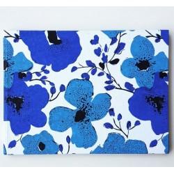 Gastenboek Flowers Blue katoenpapier met bloemmotief