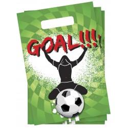 Pak met 6 voetbal feestzakjes Goal