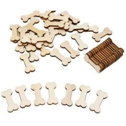 Decoratieve mini houten honden botjes