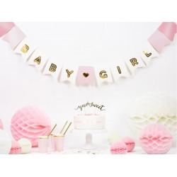 Banner Baby Girl heel licht roze met goud