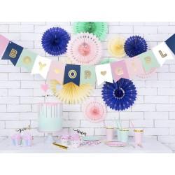 Banner Boy or Girl roze, blauw en wit met goud