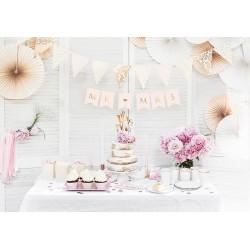 Banner Mr & Mrs heel licht roze met goud