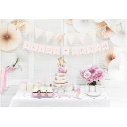Banner Bride & Groom heel licht roze met goud