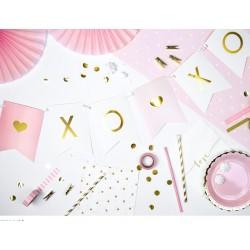 Banner XOXO licht roze, wit met goud
