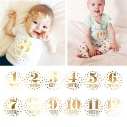 Baby en zwangerschap Milestone stickers Gold