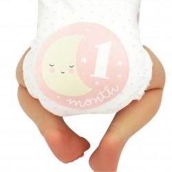 Baby en zwangerschap Milestone stickers Little Lovely Roze of Blauw