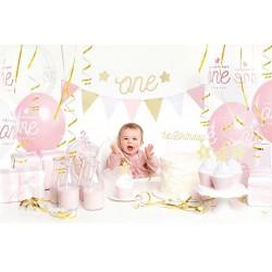 Aantrekkelijk geprijsde en super complete party box 1e verjaardag Gold