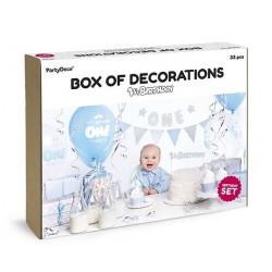 Aantrekkelijk geprijsde en super complete party box 1e verjaardag Blue