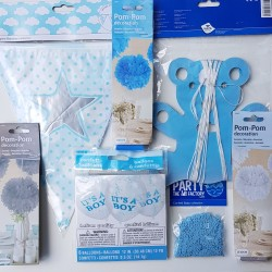 Babyshower pakket A Star is Born silver and blue
