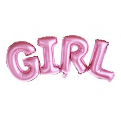 Baby ballonnen Girl roze folie
