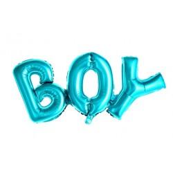 Baby ballonnen Boy blauw folie