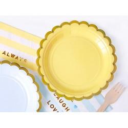 Bordjes van geel met goud metallic karton