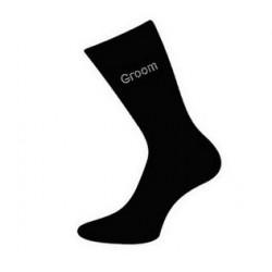 Zwarte sokken met de tekst Groom of Best Man