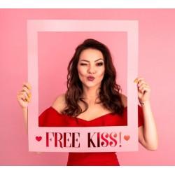 Foto props in de vorm van een Frame Free Kisses