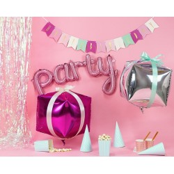 Folie ballon tekst Party roze