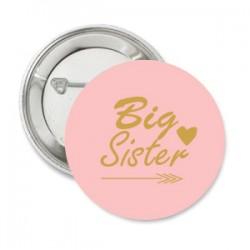 Button Baby Tribal roze ondergrond met tekst naar keuze