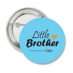 Button Baby Tribal met blauwe ondergrond met tekst naar keuze