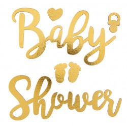 Handig en heel mooi plak motief Babyshower met baby voetjes, hartje en speentje