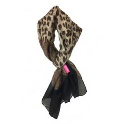 Leopard Shawl zwart, rood of wit