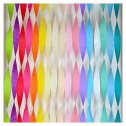 Crepe slinger van 6 of 24 meter lang in diverse prachtige kleuren
