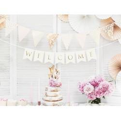 Banner Welcome wit met goud