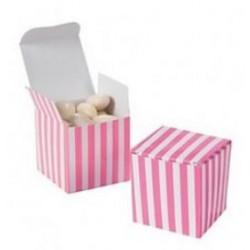 Roze gestreepte giftbox