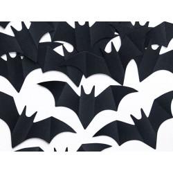Confetti zwart papieren vleermuizen
