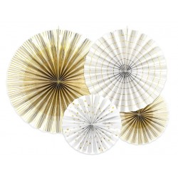 Decoratieve en aantrekkelijke geprijsde set met 4 waaierdecoraties Gold Pattern