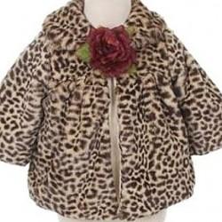 Trendy jasje met cheetah print en romantische bloem