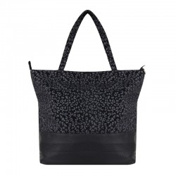Shopper Leopard choco, gold of black van Jozemiek