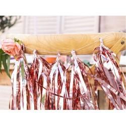 DIY tassel slinger set met 12 rose gouden tassels en 2 meter ivoorkleurig touw