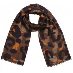 Sjaal Leopard Art