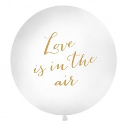 Super ballon Love is in the Air wit met goud