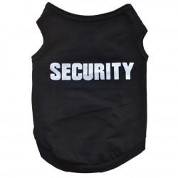 Honden t-shirt zwart met in wit de tekst Security