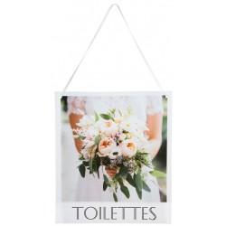 Decoratie bord met de tekst Toilettes