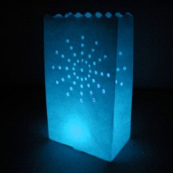 Tien candlebags Zon blauw