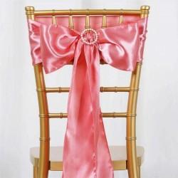 Satijnen stoelstrik per stuk of per pak met 10 stuks rose goud