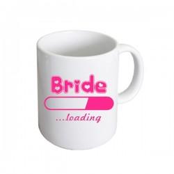 Bride Loading witte mok met roze opdruk