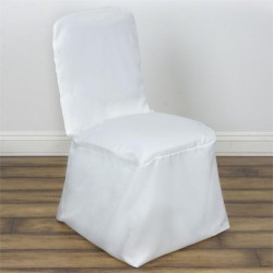 Banquet chaircover wit of ivoor