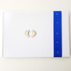 Gastenboek Baby Love blauw