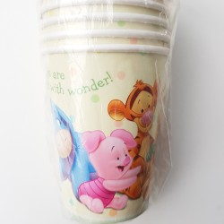 Babyshower kartonnen bekertjes Winnie the Pooh and Friends